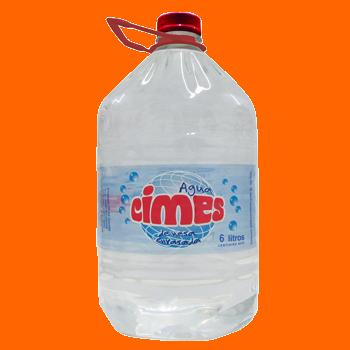 Agua Cimes en botellon descartable 6 lts