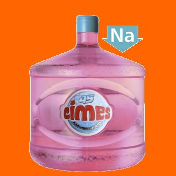 Agua bajo sodio Cimes en bidon retornable 12 lts.